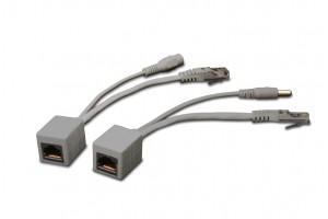 Gembird UTP pasívne POE adaptérová súprava, PP12-POE-0.15M-W