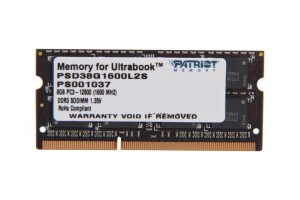 Patriot 8GB Signature Line 1600MHz DDR3 CL9 SODIMM, PSD38G1600L2S
