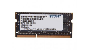 Patriot 8GB Signature Line 1600MHz DDR3 CL9 SODIMM