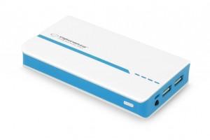 Esperanza EMP107WG ATOM externá batéria 11000mAh, bielo-zelená