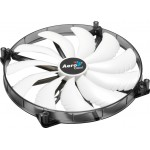 Ventilátor AeroCool Silent Master White LED 200x200x20mm